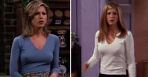 為何珍妮佛安妮絲頓在《六人行》中總愛「露乳首」胸型又超完美?網友神分析:可能有挖洞…