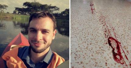 商場驚現「100公尺長血腳印」,醫生順著血腳印追去「救回2條人命」!