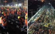 看到中國狂炸的神速!霸氣投入「1500工人」改建新車站,只花「9個小時」就完成!(影片)