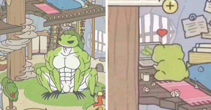 蛙蛙都不回家?9張「暗黑版《旅行青蛙》照」讓蛙爸媽一解相思之情,「最美春光風景」秒懂總是不在家奧秘!