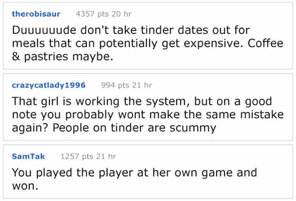 他約女網友見面發現對方「只是想騙免費大餐」 最後「尿遁+開大絕報復」太狠引兩派論戰