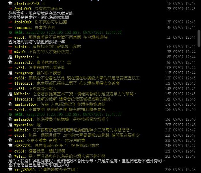 回泰國都有24K!台灣薪資低到泰勞合約滿期「急著逃離鬼島」,網友大嘆:台灣完了?