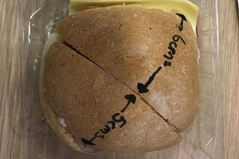 奧客氣PUPU投訴漢堡「沒有切一半」 店員超傻眼結果一量...跪了!