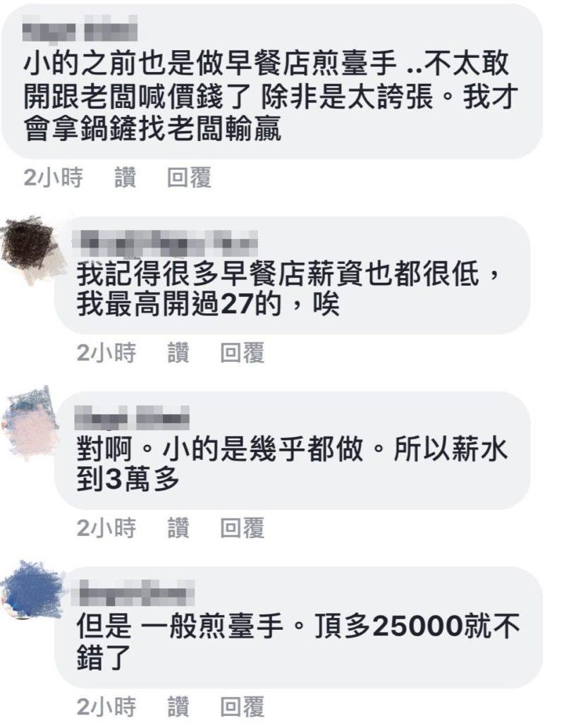「早餐店煎台手22K」應徵者酸:太少,老闆PO網無奈「薪水都照勞基法走」引網友兩派爭辯
