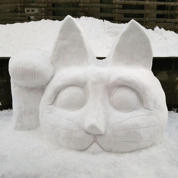 整隻史努比!30+張讓你看到日本人創意無極限的「東京街頭驚奇雪景照」