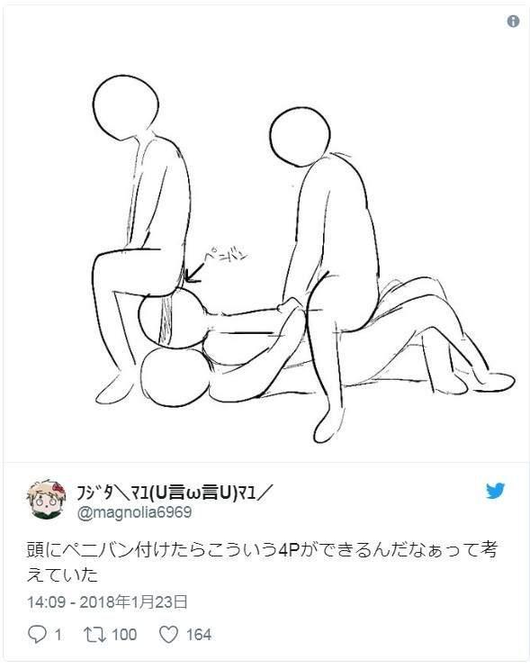 日本推特最新熱搜夯詞「捆綁式假GG」,網友畫出「4P使用方法圖」全網都回不去了