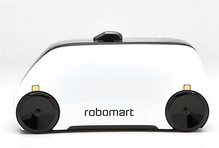全球第一台「會自己趴趴走的超市」!AI無人電動車能「把新鮮食物直接送到門口」任你選購!