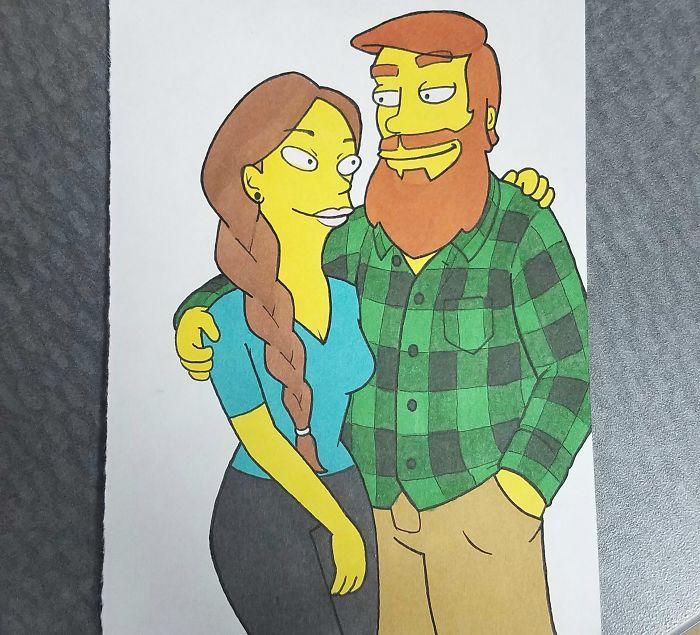 藝術家將自己和女友「變成10種不同動漫風格人物」,無違和感《南方四賤客》風格讓女友愛不釋手!