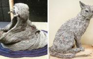她賦予「廢棄的報紙」全新的生命 讓它們以動物的形態重生!(圖片+影片)