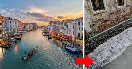 威尼斯運河「沒水了全乾枯」!運河慘缺水第3年「貢多拉沒水划卡死」專家解釋了