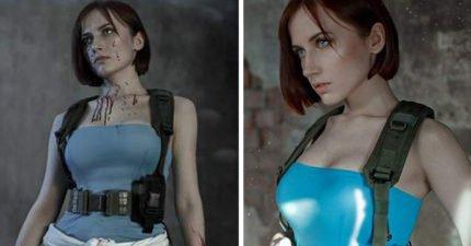 是真人喔!史上還原度最高《惡靈古堡3》Cosplay「比遊戲畫面更美」,「短裙美腿照」會讓你心跳停止!