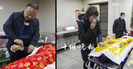 人妻老公「胃癌猝死家裡」,她心碎送到殯儀館「遺體突然張口流淚」工作人員把脈完:我的天啊!