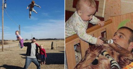 16張讓媽媽擔心指數爆表的「老爸帶小孩」爆笑照片!