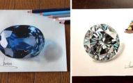 日本15歲神人繪師用色鉛筆畫出「晶瑩剔透超美寶石」!超不科學「哈利波特」逼真到從畫中走出來!(9張)