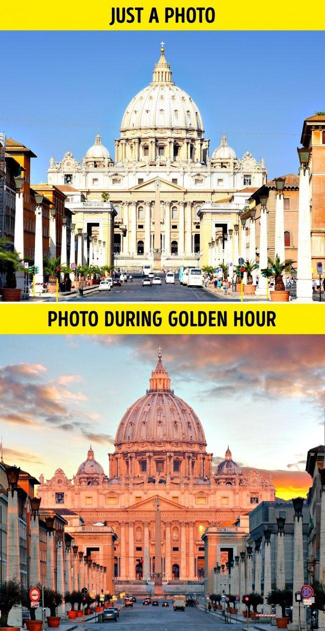 22個「拍對變神拍錯變渣」的超實用拍照技巧,拍攝時間「前後對比」差太多