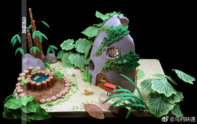《旅行青蛙》也能吃了!「100%場景神還原」細緻翻糖蛋糕「看全景池塘可愛到不行」