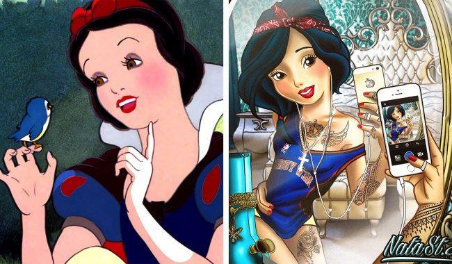 10張黑化迪士尼公主「顯現她們內心最狂野叛逆一面」的壞壞公主照,「艾莎刺青鼻環耳環通通來」又帥又美!