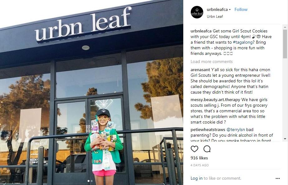 6小時狠賺4萬塊!童軍少女發揮商業頭腦「大麻店前賣餅乾」被阻止,網友:打壓人才?