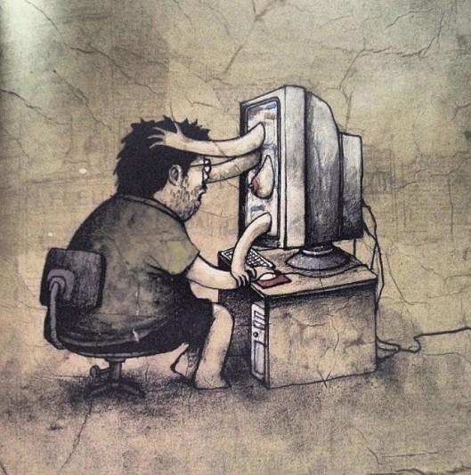 25張大家心裡都想過但不說的「現代社會通病寫實黑暗插畫」