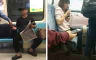 看報哥一上捷運「直接展開行李擺攤」,連霸4座位「不想給外國人坐耶~」被警察當眾洗臉下車!