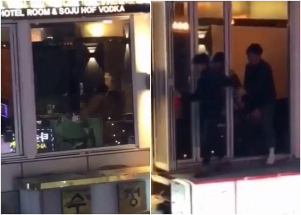 南韓街頭包廂上演「激情肉身交疊LIVE秀」,玻璃窗裡忘情上演「頭埋黑森林探險」整條街站位全滿!