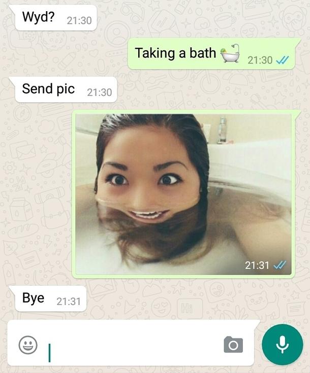 渣男要求要裸照,她大方回復「裸照」讓對方再也不敢惹她了