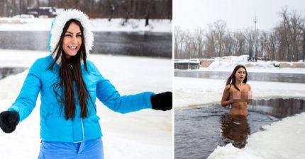 身材火辣美女年齡看不出來!她:「每週冰湖裸泳是凍齡秘密」大人版太兒童不宜!