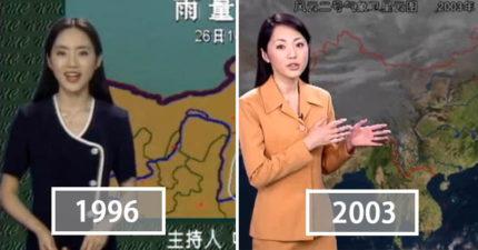 中國央視「22年凍齡美女氣象主播」成新一代不老傳說!「2018年現在模樣」老外都猜不出年齡!