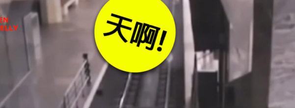 監視器捕捉「幽靈火車」開進深夜火車站,超詭異影片嚇瘋站員:我再也不想看到...(影片)