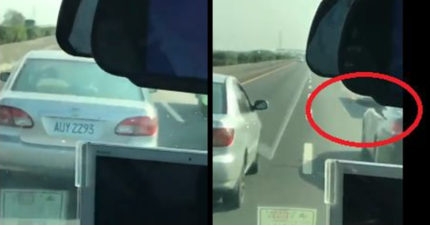 究極三寶國道上「3車道鬼影式飄移」狂切方向燈,下一秒警車併行「愛的招手」現世報直接出現...網友:超過癮!