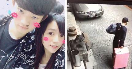 香港哥揪女友來台「慶祝情人節」,女孩爸卻在竹圍站找到「變成箱屍的女兒」:那渣男還刷她的卡!