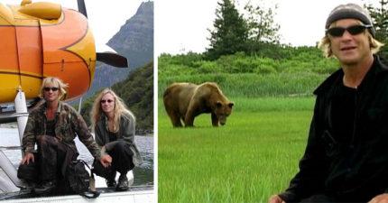 情侶花13年保育灰熊最後「雙雙葬身灰熊五臟腑」啃到只剩下體,「被拍紀錄片」他:熊是朋友,也是我的救星