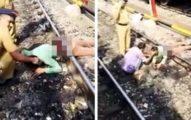 男子摔下慘遭火車輾過「身體狠斷成兩截濺血」!清理屍體一半「突然活了過來」(影片)