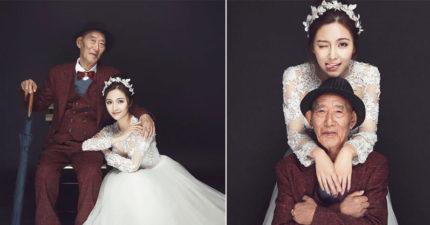 成都美少女婚紗照把全網閃瞎,因為照片中男主角是她的爺爺!