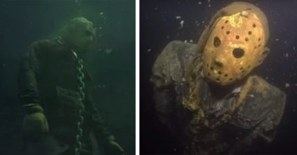 潛水員在湖底發現「泡到腐爛屍體」被鐵鍊鎖住,他近看「睜眼瞪著你」嚇到氧氣狂噴! (影片)