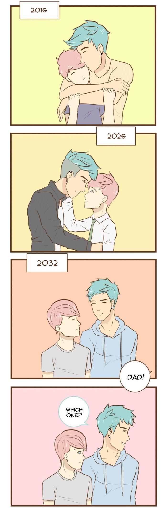 15張讓你「戴墨鏡都被閃瞎」的彩虹浪漫插畫!