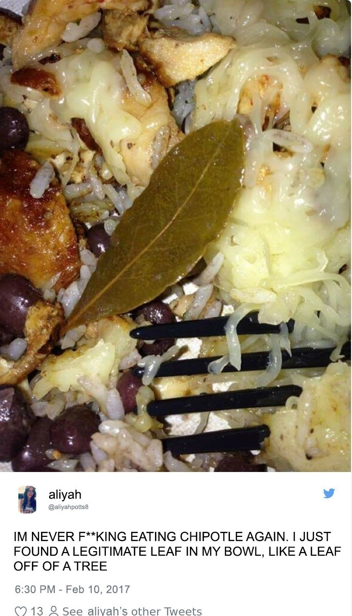 食客爆罵店家「餐點裡有發黃葉子」PO網呼籲拒吃,「終於知道真相後」糗爆!網:這些人第一次吃飯?