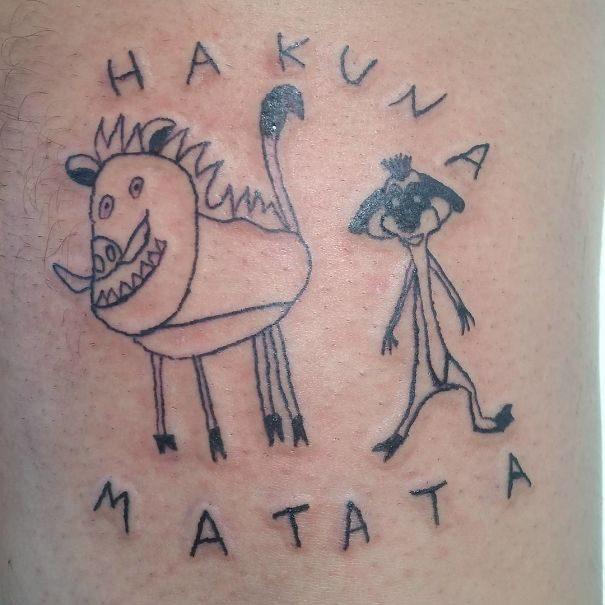 30組「刺完絕對讓你只想把皮撕掉」的失敗刺青圖 貓咪刺青根本幼稚園塗鴉