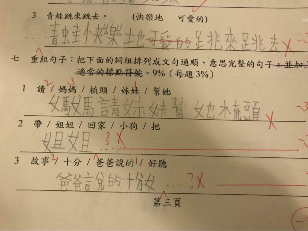 國小重組句子「媽媽請妹妹幫她梳頭」被打叉!教授的正解超打臉