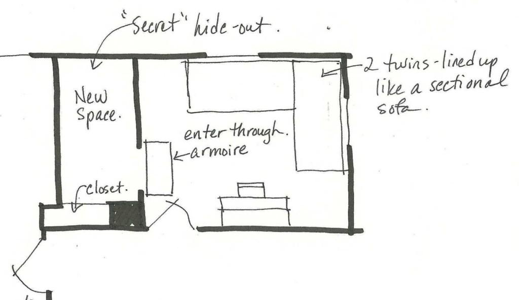 擔心女兒太孤單,創意媽媽改造衣櫥「一走進去看見納尼亞王國」!