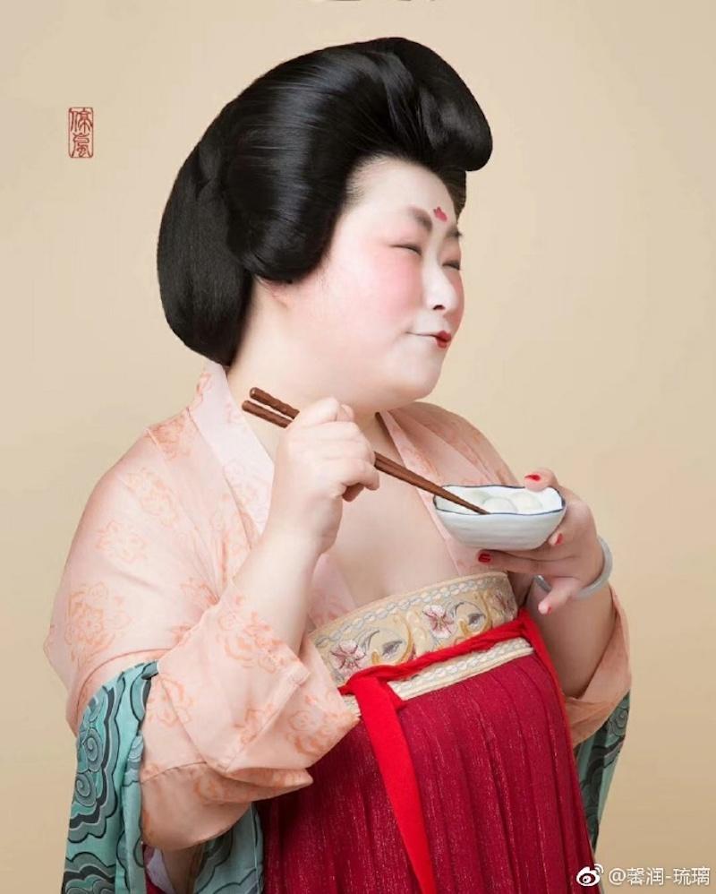 胖才是美!設計師打造「最美唐朝服裝」推翻偏見,展現「肉肉女子可愛面」讓人好想回到唐朝喔!(14張)
