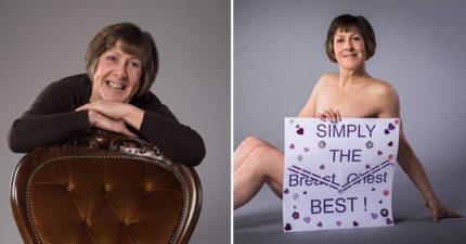 女子拋去所有衣服,讓大家看到對抗乳癌的「雙勝戰績」!她:「變成全平的」很安心 (圖片慎入)