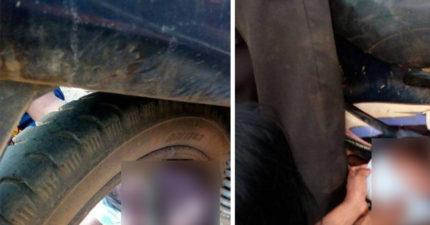 媽媽揹1歲嬰兒騎車,一不小心手滑「嬰兒捲入後輪」當場頭擠碎慘死