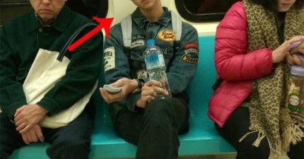 她捷運上發現「野生小鮮肉」衝動拿出手機想偷拍,喬好鏡頭要拍下那一刻「他笑了」