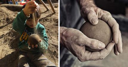 日本泥巴球製作過程超療癒!「完美閃亮成品照」讓人驚豔