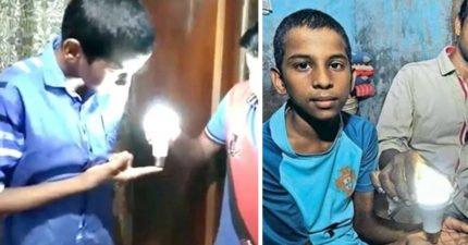9歲男孩擁「自體發電」特異技能,燈泡一碰身體就發光!專家一看傻眼打臉:沒唸過生物學?(影片)