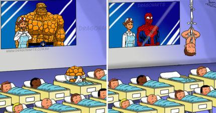 16張創意插畫告訴你「超級英雄如果生小孩」會發生的事!「金鋼狼」寶寶超霸氣、「鷹眼」寶寶是顆蛋