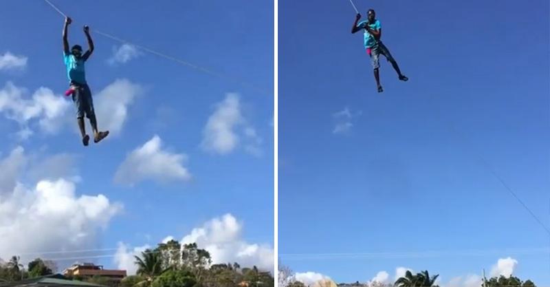 影/男子玩命拉風箏線 反彈瞬間「跟著風箏起飛了」!
