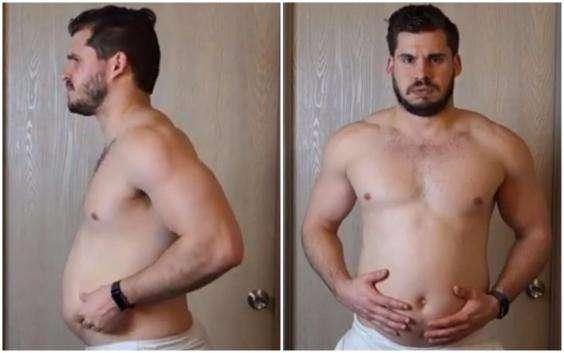 他減肥時每天拍一張照 3個月變化過程證明肥宅也能變天菜