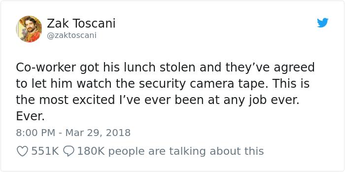 男子「午餐被偷」以為是同事吃掉,結果調了監視器才發現「超高端犯罪真相」